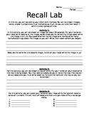 Recall/Memory Lab