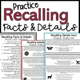 Recalling Facts and Details