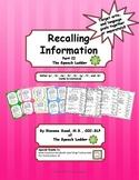 Recalling Information Part II
