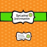 Recalling Information (Speech Therapy)