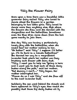 RecallingTeacherSanity -Classroom Behaviour Story: Tilly the Flower Fairy