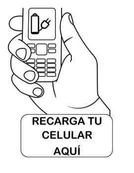 Recarga Celular Señal / Charge your phone sign