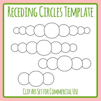 Receding Circles Templates Clip Art Set for Commercial Use