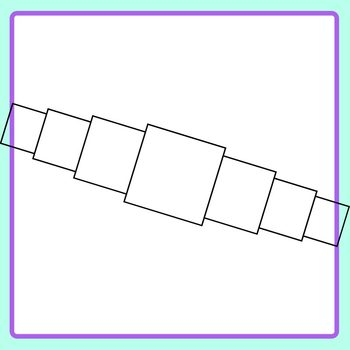 Receding Squares Template - Squares with Squares Behind Clip Art Set