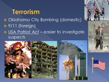 Recent American History Unit PowerPoints