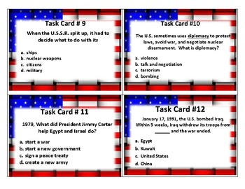 Recent Developments in History TASK CARDS