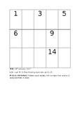 Reception Math homework worksheet