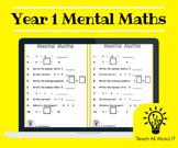 Reception & Year 1 Mental Maths