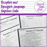 Receptive and Expressive Language Baseline Data