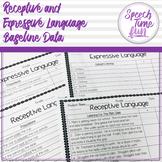 Receptive and Expressive Language Baseline Data