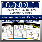 Language Builder for Speech Therapy: Seasons & Holidays BUNDLE