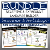 Language Builder: Seasons & Holidays BUNDLE