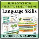 Receptive & Expressive Language Flip Books {OUTDOORS / CAMPING}