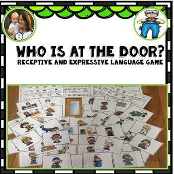 Receptive Expressive Language Game: Occupations: Who is at the Door?