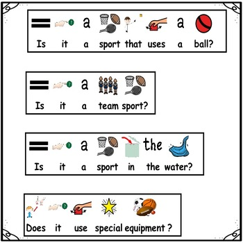 Receptive Expressive Language Game: SPORTS