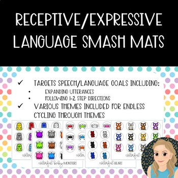 Receptive/Expressive Language Smash Mats {Colorful Creatures}