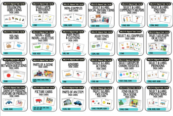 Receptive & Labeling Task Card BUNDLE [ABLLS-R Aligned ALL C & G TASKS]
