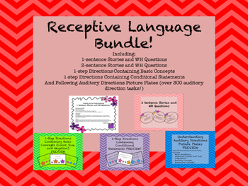 Receptive Language Activities Bundle!