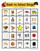 Back to School Bingo (Receptive Language)