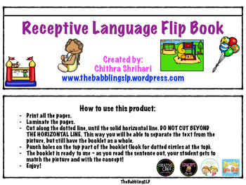 Receptive Language Flipbook