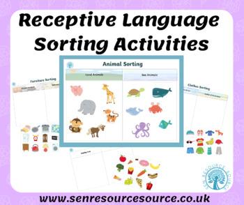 Receptive Language Sorting Activities