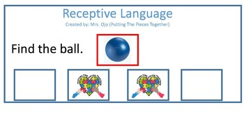 Receptive Language for student with autism and developmental delays
