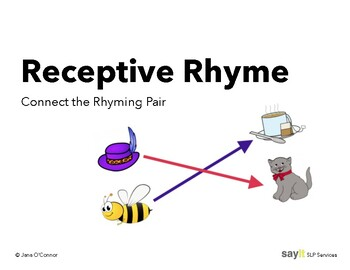 Receptive Rhyme - Connect the Rhyming Pair - Phonological Awareness