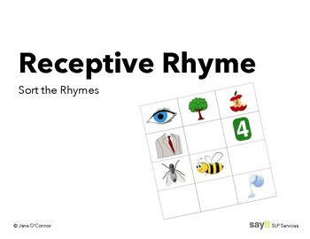 Receptive Rhyme - Sort the Rhymes - Phonological Awareness