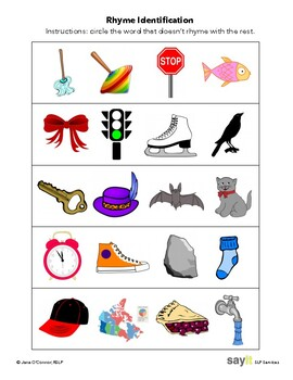 Receptive Rhyme - What Doesn't Rhyme? - Phonological Awareness