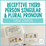 Receptive Third Person Singular and Plural Pronoun Task Cards