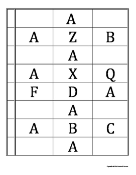 Receptive and Expressive ID of Upper and Lowercase Letters
