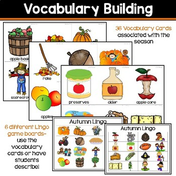Receptive & Expressive Language Builder: Autumn Edition
