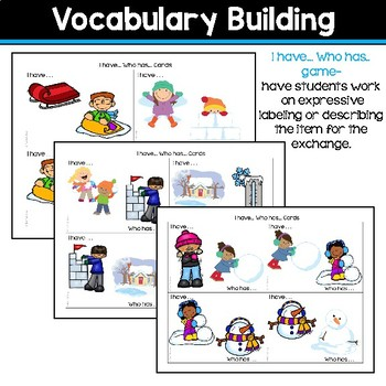Receptive & Expressive Language Builder: Winter Edition