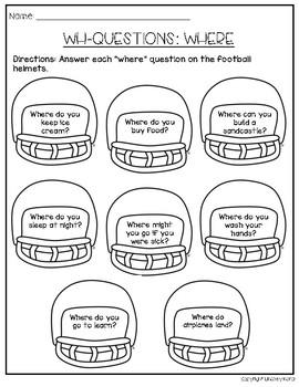 Receptive and Expressive Language Homework for September