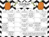 Receptive and Expressive Language Monthly Homework Calendars Aug 17-July 18
