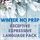 NO PREP Receptive & Expressive Language Pack {FOREVER GROW