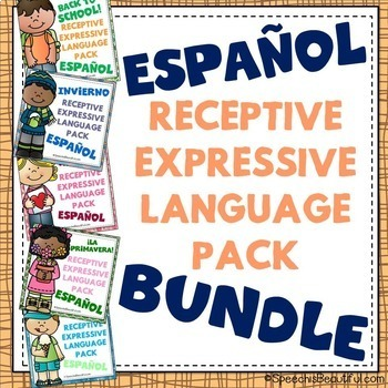 NO PREP Receptive & Expressive Language Pack - SPANISH BUNDLE
