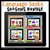 Language Tasks No Print for Teletherapy: Seasonal BUNDLE