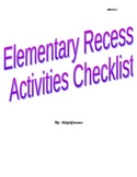 Recess Activities Checklist