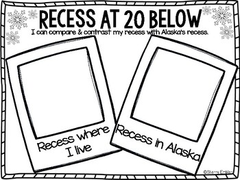 Recess At 20 Below Book Companion Activities & Non-fiction text feature posters