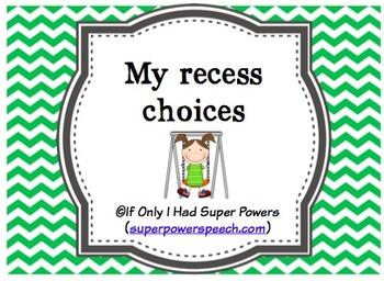 Recess Choices (FREE)
