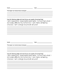 Recess Documentation Slip