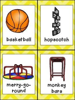 Recess Emergent Reader- Kindergarten- w/ Writing Activity and Pocket Chart Cards