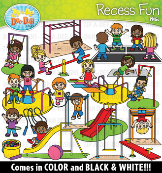 Recess Fun Kids Clipart {Zip-A-Dee-Doo-Dah Designs}
