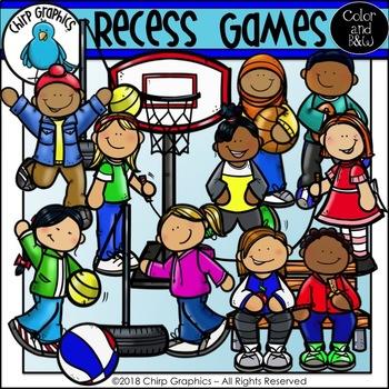 Recess Games Clip Art Set - Chirp Graphics