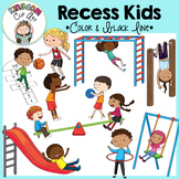 Recess Kids Clip Art