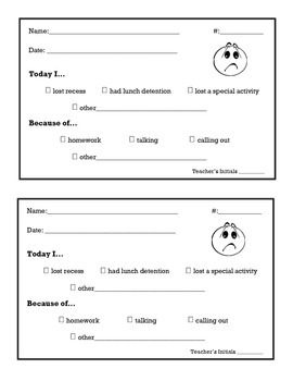 Recess Log for Students to Complete