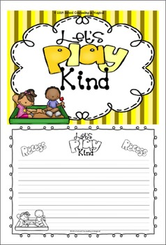Recess Manners Board Game, Posters, and Worksheets