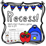Recess! Math Fact Fluency Card Game | Addition and Subtraction within 20
