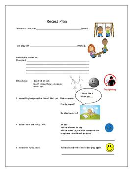 Recess Plan